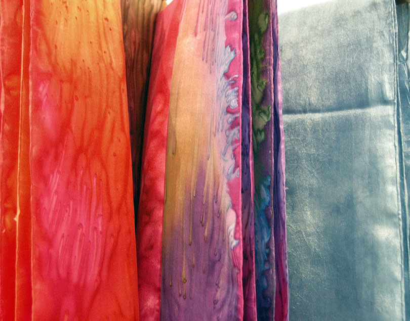 Silk Salt Dyed Scarves by Marilyn Cook