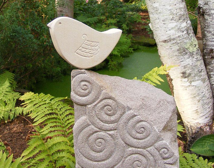 Spiral with Bird