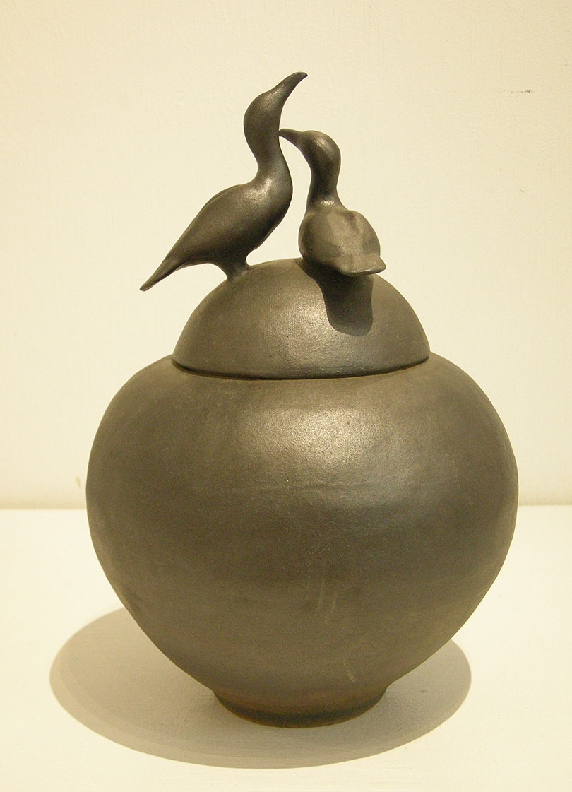 Cormorant Covered Jar