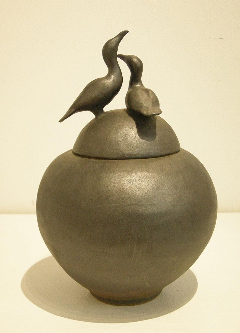 Cormorant Covered Jar
