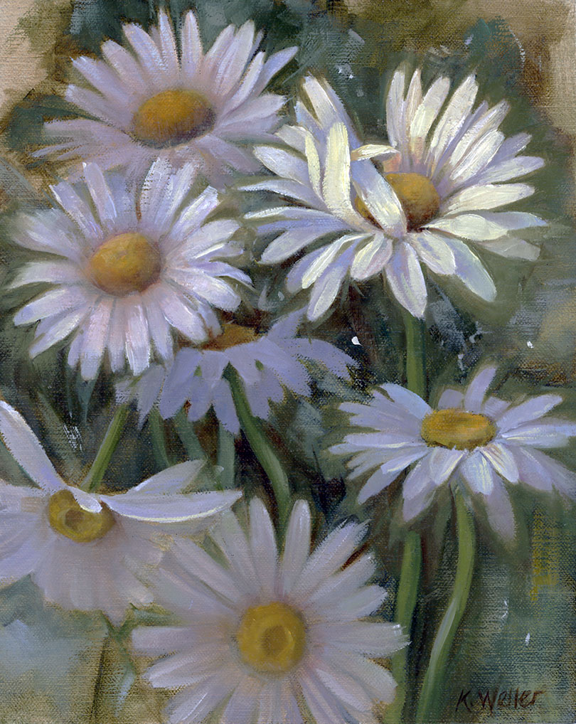 Shasta Daisies by Kerri Weller