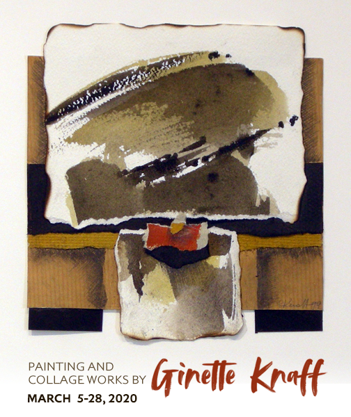 Painting and Collage Works by Ginette Knaff.     CLOSED NOW DUE TO COVID 19